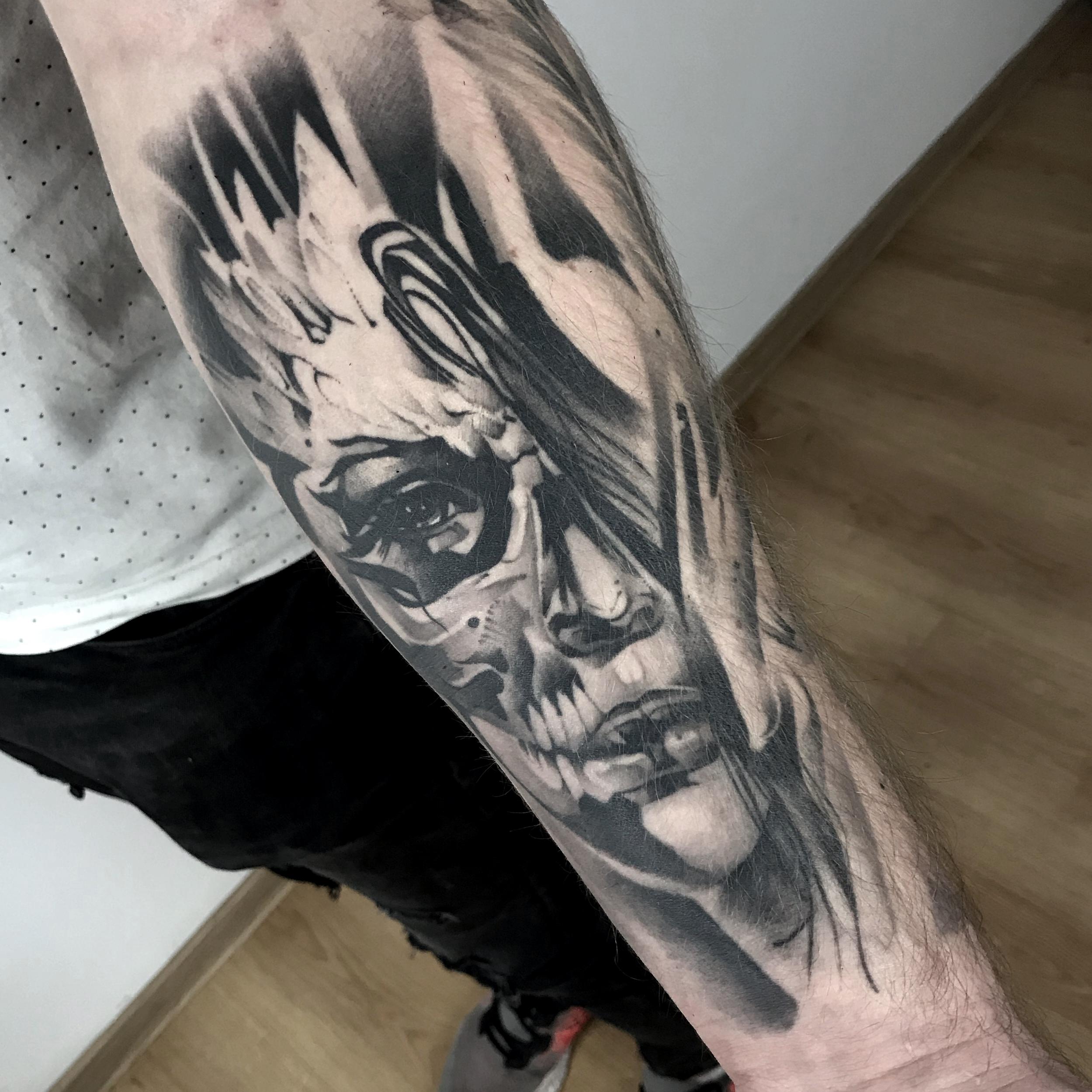 tatuaż zagojony